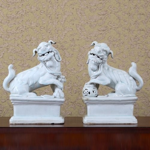 Classic Foo Dog Statue Sculpture Asian Home Decor By