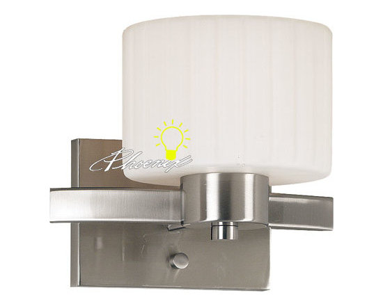 Modern Simple Metal and Glass Wall Sconce in Chrome Finish - Modern Simple Metal and Glass Wall Sconce in Chrome Finish