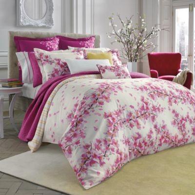 Bluebellgray Cherry Blossom Pink Comforter And Sham Set