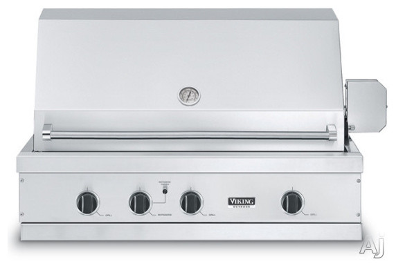 """Viking 41"""" Built-in Gas Grill contemporary-outdoor-grills"""