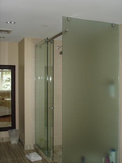 hydro slide shower door with return contemporary-showers