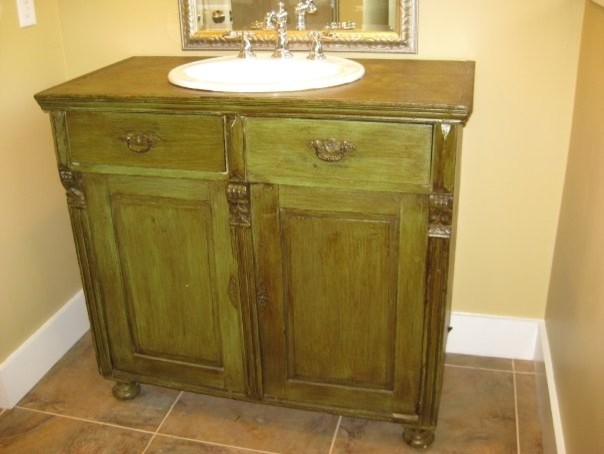 Used Bathroom Sinks : ... used as bathroom vanity eclectic-bathroom-vanities-and-sink-consoles