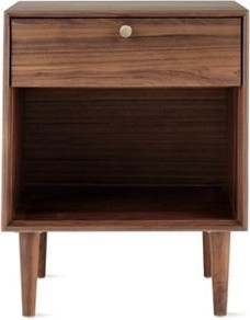 American Modern Side Table, Walnut midcentury-nightstands-and-bedside-tables