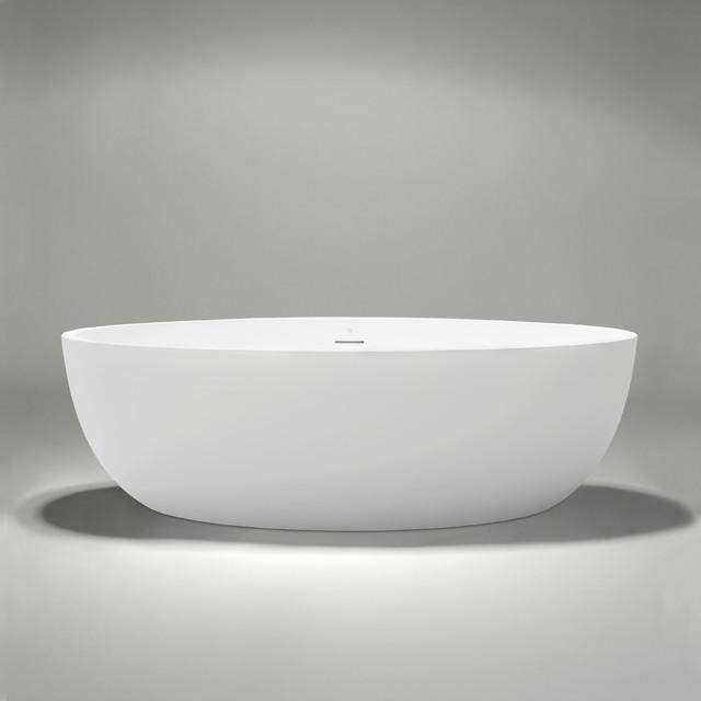 Halo Blu Stone Freestanding Bathtub Transitional Bathtubs Vancouver