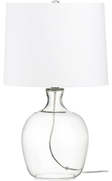 Clarity Clear Table Lamp contemporary table lamps