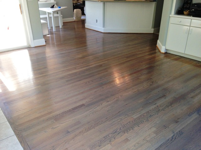 Refinishing Hardwood floors- using gray tones. - Contemporary ...