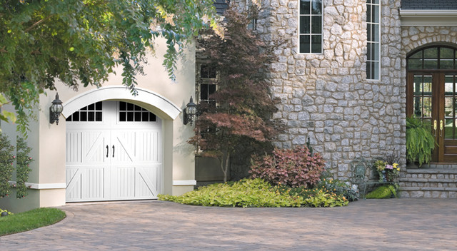 Steel Carriage House Garage Doors traditional-garage-doors-and-openers