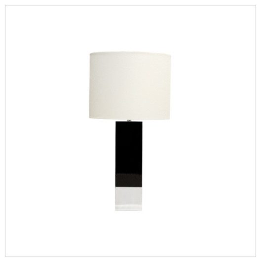 Worlds Away Harper Black Lacquer with Nickel Base Table Lamp contemporary-table-lamps