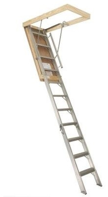 Century Industries, Inc. Ladder. Supreme Aluminum Series 8 ft. x 54 in. x 30 in. contemporary-ladders-and-step-stools