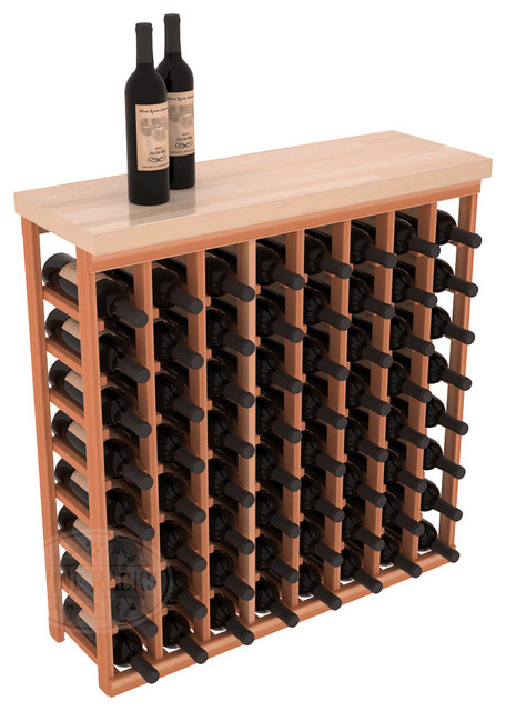 Tasting Table Wine Rack Kit + Butcher Block Top in Redwood contemporary-wine-racks