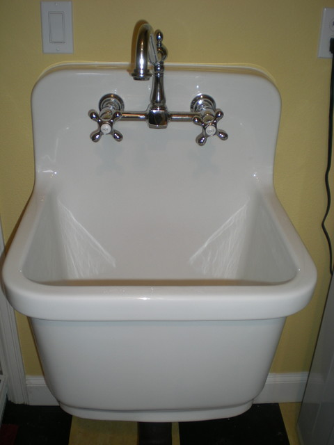 Utility Sink Bathroom : Kohler Sudbury Vintage Style Deep Sink - Traditional - Laundry Room ...