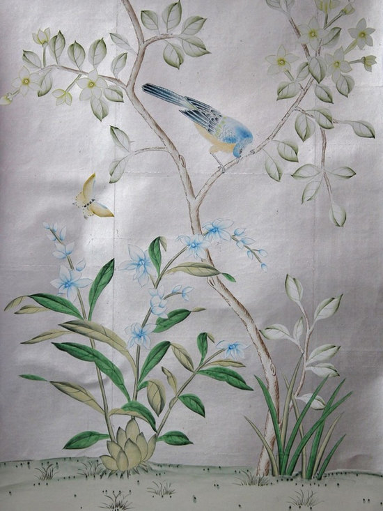 various projects and designs - Shen de Tang satin silver quadrant sample