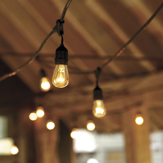 String Lights Garage : Vintage String Lights with Bulbs - Industrial - Outdoor Rope And String Lights - by Ballard Designs
