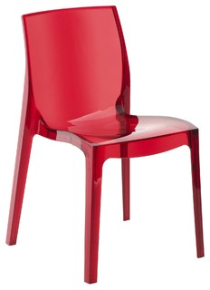 Becca Chaise Rouge Transparente Contemporary Dining Chairs By Alin A Mobilier D Co