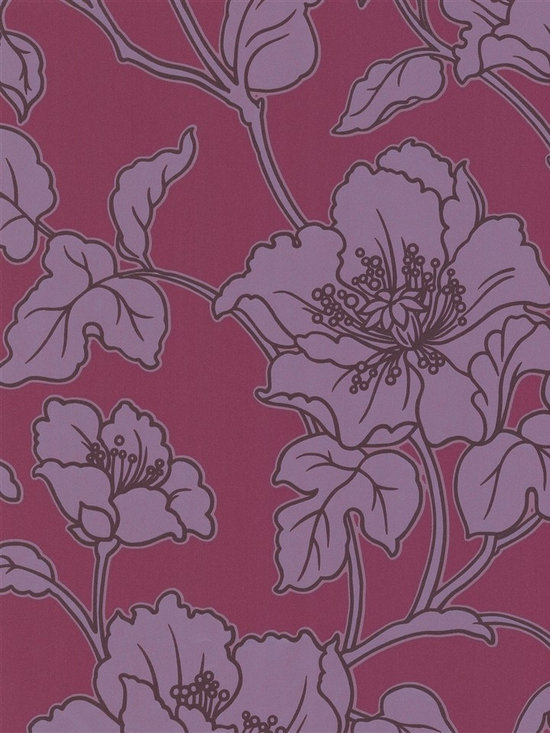 Fabulous Velvet - This chic floral wallpaper from the book Fabulous Velvet is truly one-of-a-kind!