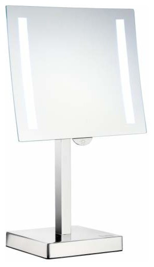 light shaving make up mirror contemporary bathroom mirrors by