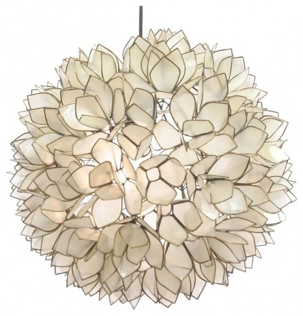 Lotus Flower Chandelier contemporary-pendant-lighting