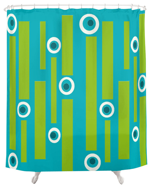 Renee Pedro Benny Shower Curtain contemporary-shower-curtains