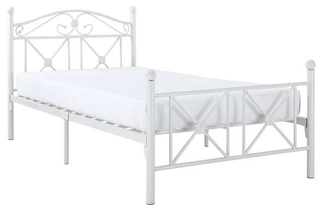 Country Cottage Iron Twin Bed Frame farmhouse-beds