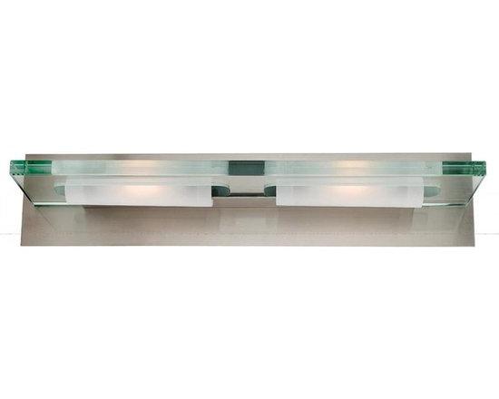 Access Lighting 62092-BS/12C Two Light Steel Vanity -