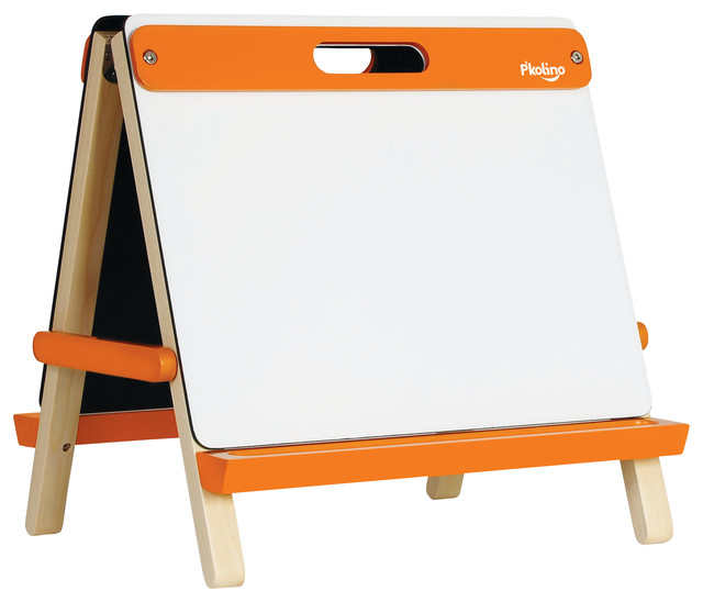 Tabletop Art Easel, Orange contemporary-kids-toys-and-games