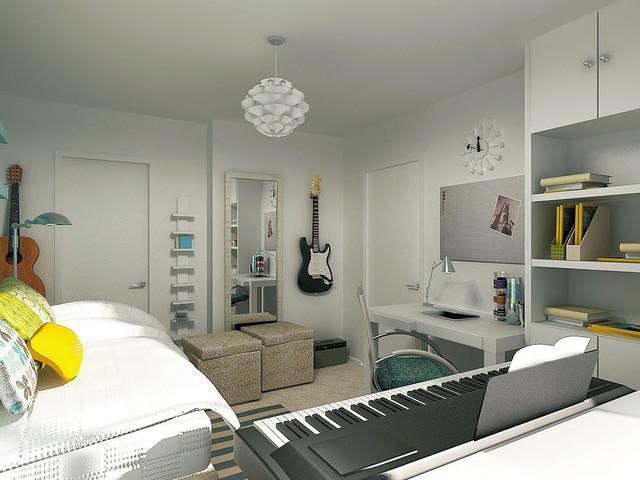 Chelsea Teen's room & bath contemporary-rendering