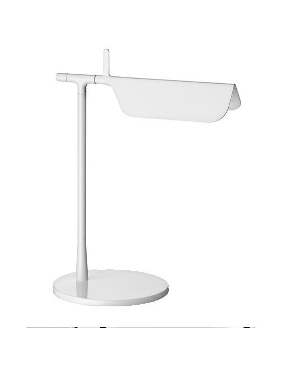 Tab T Table Lamp By Flos Lighting - Tab Table / Tab LED by Flos is a modern slick table light providing direct lighting with an adjustable head.