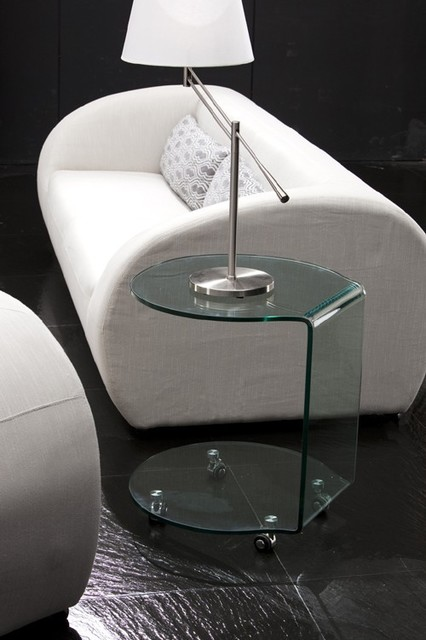ZUO Modern - Mission Side Table in Tempered Glass - 404112 modern-side-tables-and-end-tables