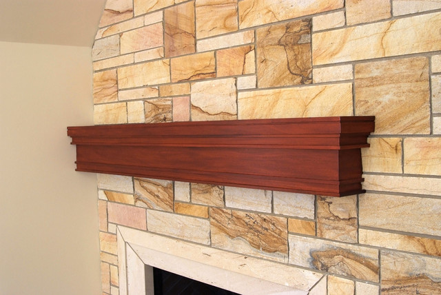 Custom Mahogany Mantel Craftsman Fireplace Mantels Other Metro By Baird Brothers Fine