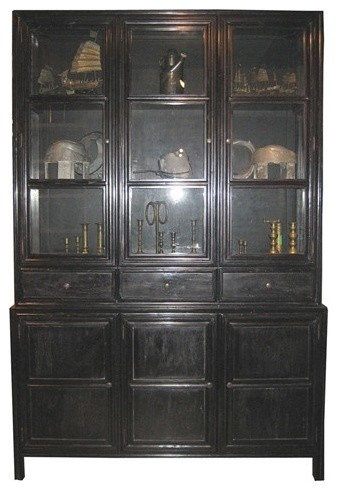 NOIR Furniture - Colonial Hutch in Hand Rubbed Black - Traditional - China Cabinets And Hutches ...