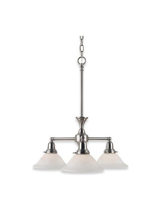 Royce Lighting - Royce Lighting Essex Three-Light Chandelier Pewter with Opal Etched Globes - Royce Lighting RC2186/3PW Essex Three-Light Chandelier Pewter with Opal Etched Globes. Pewter Pictured in oil rubbed bronze Features: -Three light chandelier.-Colonial style with subtle detailing and Accommodates (3) medium base bulb. Options: -Available in oil rubbed bronze or pewter finish. Construction: -Metal construction. Assembly Instructions: -Assembly required.