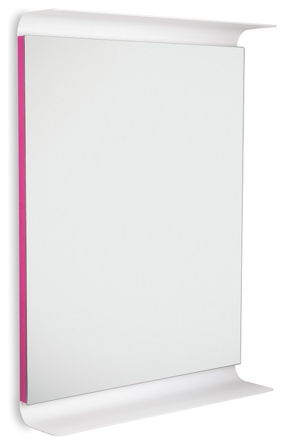 curva 5689 led lighted wall mirror with shelves pink. Black Bedroom Furniture Sets. Home Design Ideas