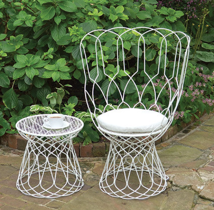 Wire High Back Chair modern-outdoor-lounge-chairs