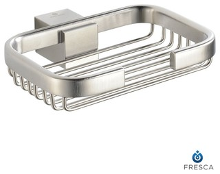 Fresca Ellite Soap Dish/Basket - Brushed Nickel - Modern - Bath And Spa Accessories - by ...