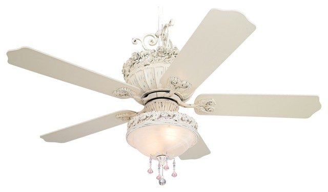 Ceiling Fan with Pretty and Pink Light Kit - Traditional - Ceiling ...
