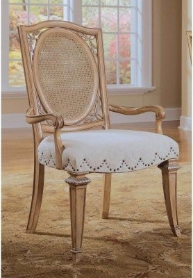 J McClintock Woven Back Arm Chairs - 2 Chairs modern-dining-chairs