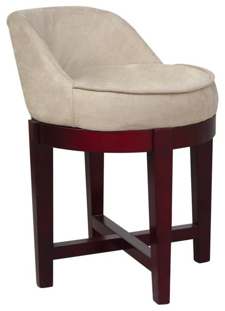Swivel Vanity Chair traditional-living-room-chairs