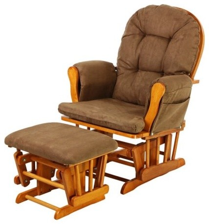Dream On Me Savannah Glider & Ottoman - Oak - Traditional - Rocking Chairs - by Hayneedle