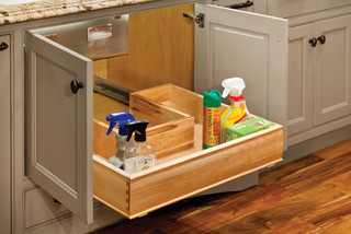 U-Shaped Sliding Shelf for Sink Cabinets - Contemporary - Kitchen Drawer Organizers - birmingham ...