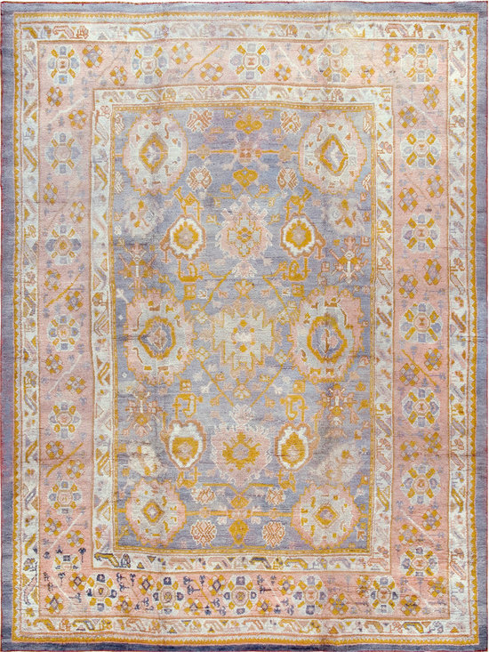 "Antique Turkish Oushak Carpets - #17671 antique Turkish Oushak carpet 9'2"" x 12'2"""