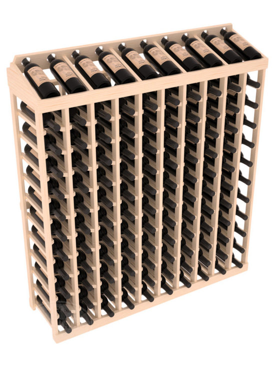 Wine Racks America® - Commercial Wine Rack RetailEDGE™ Standard Base with Display Top - Our Standard Base with Display Top holds up to 120 bottles, giving your retail wine rack the display it needs to help customers shop with ease. With the solid Ponderosa pine option, 13 beautiful stain & finish combination choices, this retail wine rack kit is the perfect display storage solution for your retail store. Increase your bottom line today with RetailEDGE Series ™.