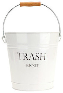 York Trash Bucket modern-wastebaskets