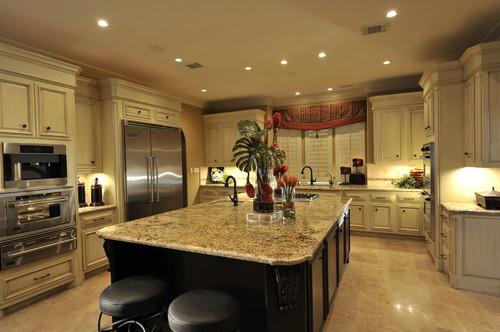 Yellow River Granite Countertop Kitchen Design Ideas