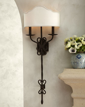 Old World Iron Sconce