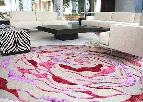 Rugs for all tastes get inspired contemporary-living-room
