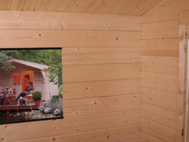 Small Log Cabin Kit Interior Photos