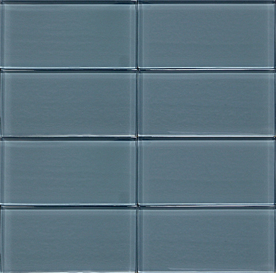 3x6 Glass Subway Tile Teal Blue