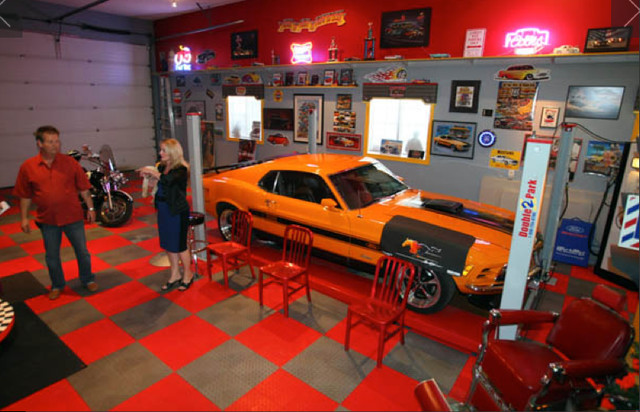 The Ultimate Man Cave - RaceDeck Garage Flooring - Wall ...