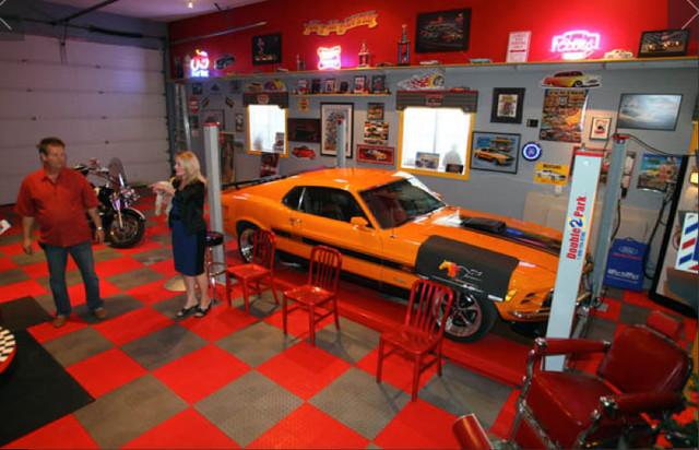 The Ultimate Man Cave RaceDeck Garage Flooring Wall