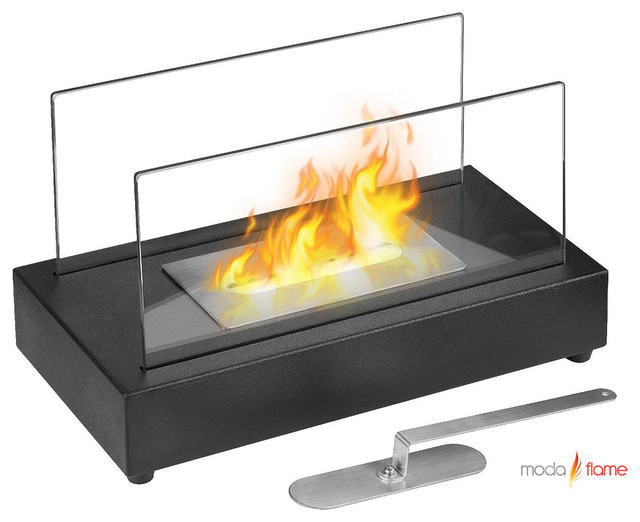 Moda Flame Vigo Table Top Ethanol Fireplace Contemporary Indoor Fireplaces New York By